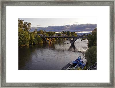 Last Light On Caveman Bridge Framed Print by Mick Anderson