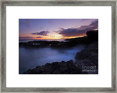 Last Light Over The South Shore Framed Print