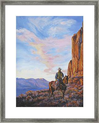 Last Light With A Mile To Go Framed Print