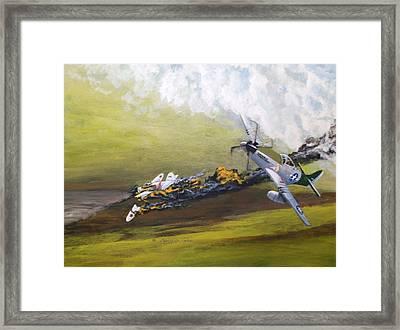 Last Plane Framed Print by Dennis D Vebert