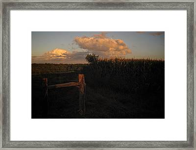 Last Rays Framed Print