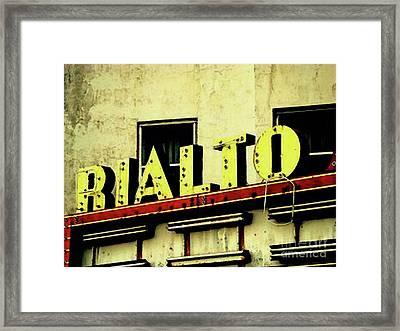 Last Showing Framed Print