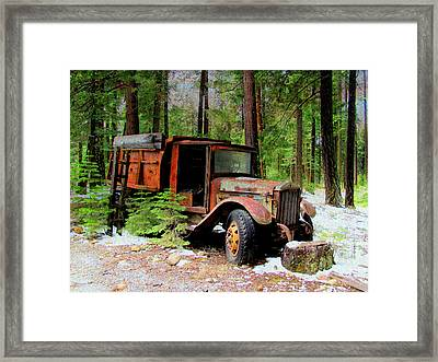 Framed Print featuring the photograph Last Stop by Irina Hays