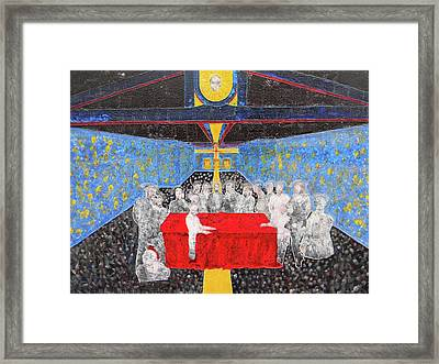 Last Supper The Reunion Framed Print by Marwan George Khoury