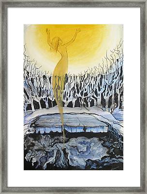 Framed Print featuring the painting Last Time It Was Like This by Valentina Plishchina