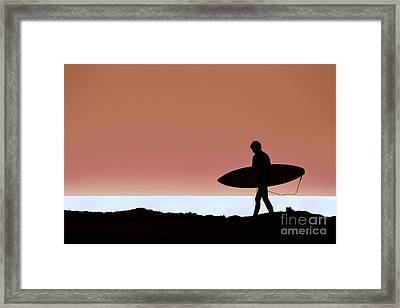 Last Wave Framed Print by David Taylor