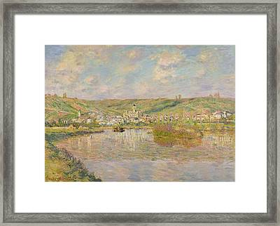 Late Afternoon - Vetheuil Framed Print by Claude Monet
