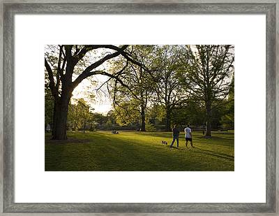 Late Afternoon In Piedmont Park Framed Print by Krista Rossow