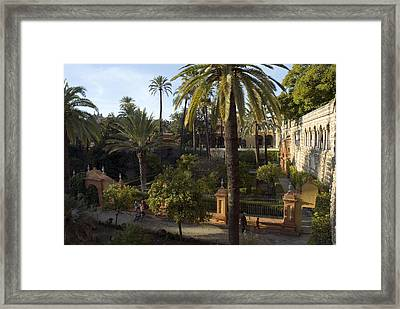 Late Afternoon In The Gardens Framed Print by Krista Rossow