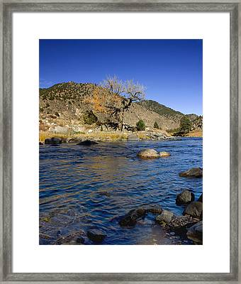 Late Autumn At The Arkansas Framed Print by Ellen Heaverlo