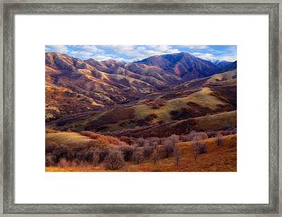 Late Autumn In The Wasatch Foothills Framed Print by Utah Images