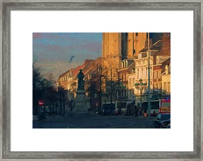 Late Autumn Light In The Boschstreet Framed Print
