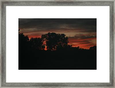 Late Evening Skies Framed Print