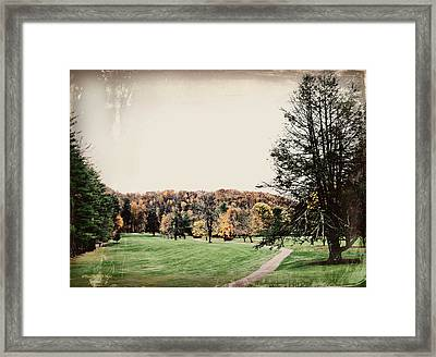 Late Fall In Waynesville Framed Print by Paulette B Wright
