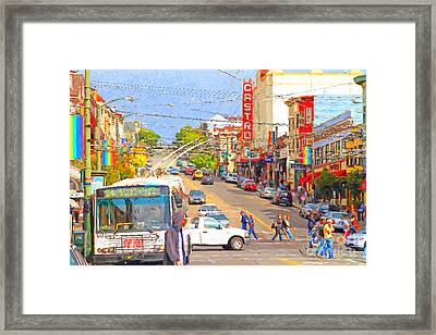 Late Morning Early Autumn In The Castro In San Francisco Framed Print by Wingsdomain Art and Photography