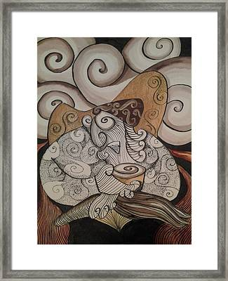 Late Night Artist Framed Print by Modesto Aceves