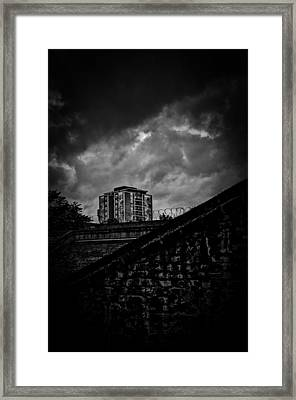 Late Night Brixton Skyline Framed Print by Lenny Carter