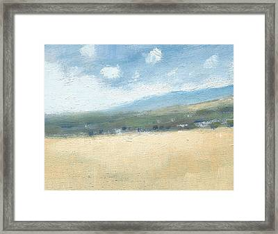 Late Summer Cornfields Framed Print by Alan Daysh