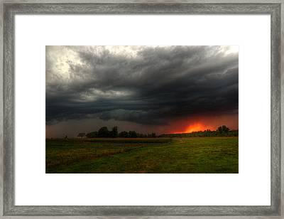Late Summer Storm Framed Print by Brook Burling