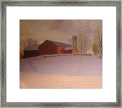 Late Winter At The Lufkin Farm Framed Print by Mark Haley