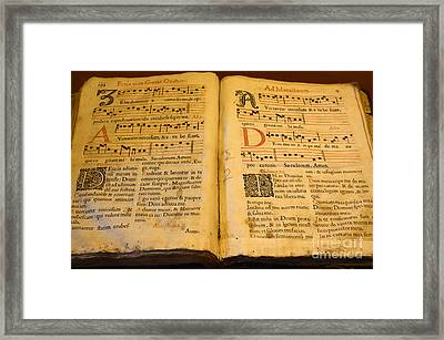 Latin Hymnal 1700 Ad Framed Print by Bob Christopher