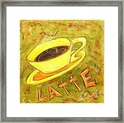 Latte Framed Print by Lee Halbrook