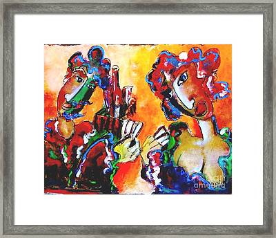 Laubar - Pokerface Framed Print by Laurens  Barnard