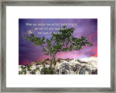 Laugh At The Sky Framed Print