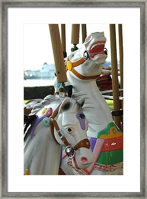 Laughing Horses Framed Print by Dolores Russo