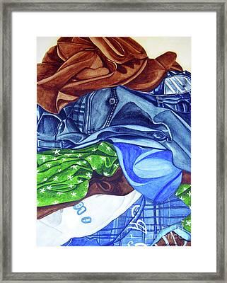 Laundry No4 Framed Print by Mic DBernardo