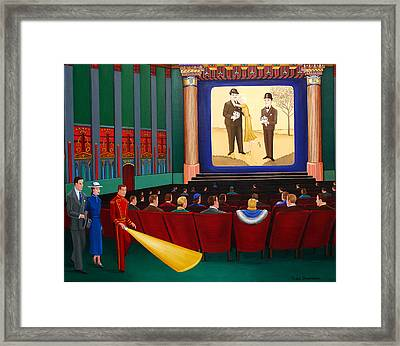 Laurel And Hardy Framed Print by Tracy Dennison