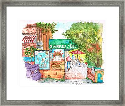 Laurel Canyon Market And Deli In Laurel Canyon, Hollywood Hills, California Framed Print