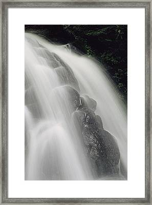 Laurel Falls In Great Smoky Mountains Framed Print by George F. Mobley