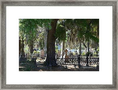 Laurel Grove Cemetery - Savannah Georgia Framed Print by Randy Edwards