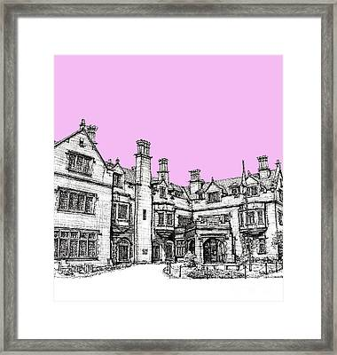 Laurel Hall In Pink Framed Print by Building  Art