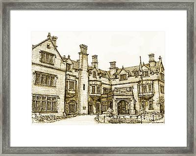 Laurel Hall In Sepia Framed Print by Adendorff Design