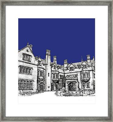 Laurel Hall Royal Blue Framed Print by Building  Art