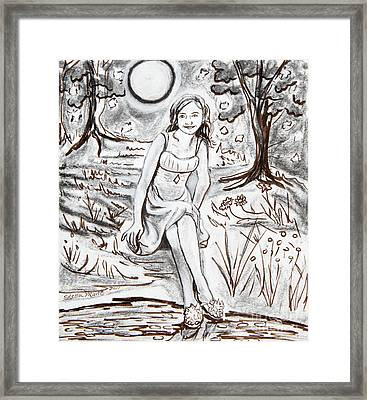 Lauren At Theater Class Framed Print
