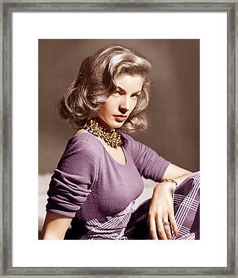 Lauren Bacall, Ca. 1945 Framed Print by Everett