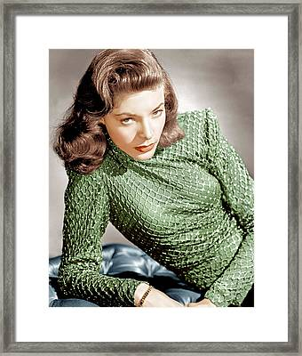 Lauren Bacall, Ca. 1946 Framed Print by Everett