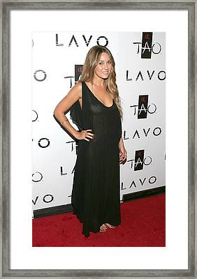 Lauren Conrad At Arrivals For Lauren Framed Print by Everett