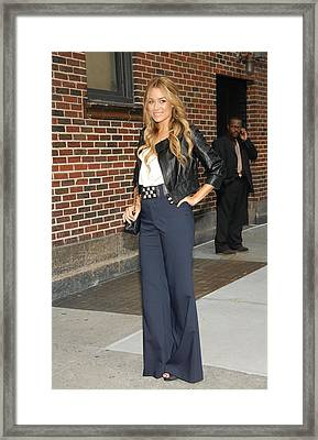 Lauren Conrad At Talk Show Appearance Framed Print by Everett