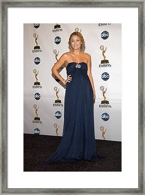 Lauren Conrad In The Press Room Framed Print by Everett
