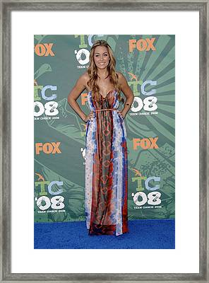 Lauren Conrad Wearing A Dress Framed Print