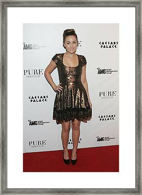 Lauren Conrad Wearing A Farah Khan Framed Print by Everett