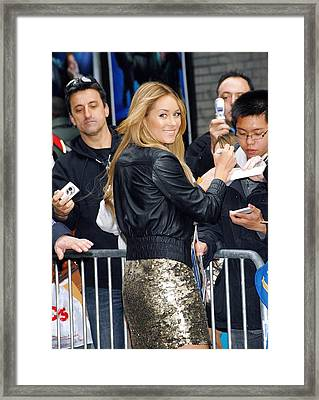 Lauren Conrad Wearing Kate Moss Framed Print