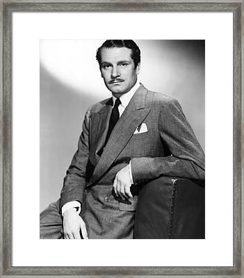 Laurence Olivier At The Time Of Carrie Framed Print