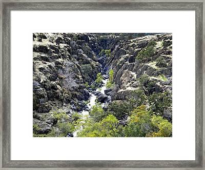 Lava Canyon Framed Print by Frank Wilson