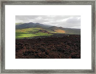 Lava Flow Maui Framed Print by Pierre Leclerc Photography