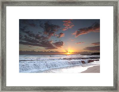 Lava Shelf Waterfall Framed Print by Roger Mullenhour